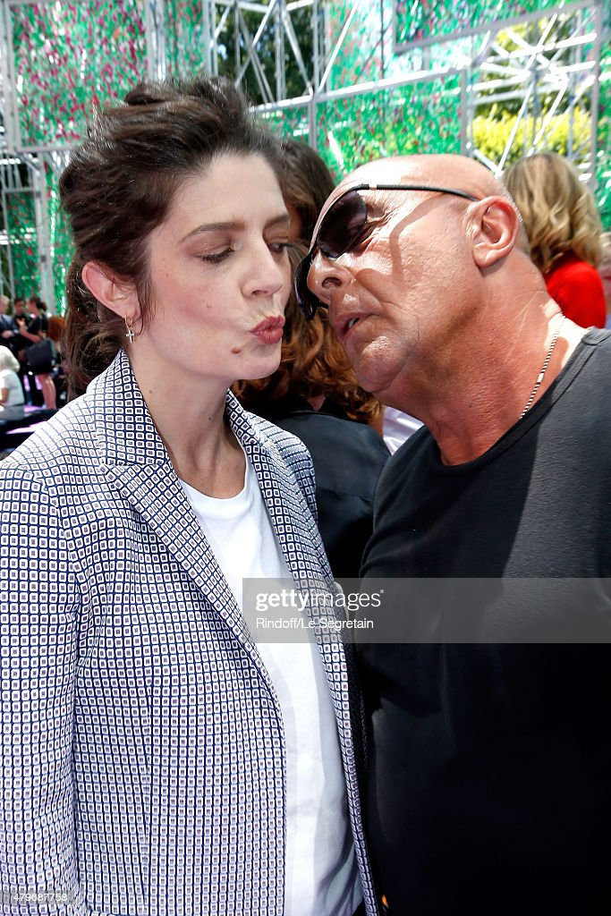 Actress Chiara Mastroianni and Jean-Baptiste Mondino attend the Christian Dior show as part of Paris Fashion Week Haute Couture Fall/Winter 2015/2016 on July 6, 2015 in Paris, France.