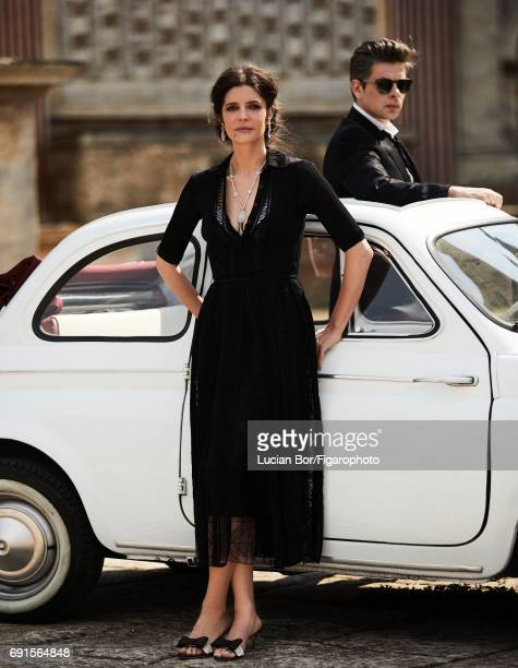 Actress Chiara Mastroianni and singer/songwriter Benjamin Biolay are photographed for Madame Figaro on April 5 2017 in Rome Italy Mastroianni Dress...