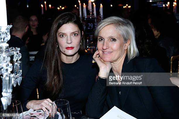 Actress Chiara Mastroianni and Stylist of Dior Maria Grazia Chiuri attend the Annual Charity Dinner hosted by the AEM Association Children of the...