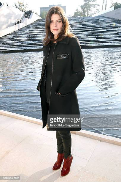 Actress Chiara Mastroianni attends the Louis Vuitton show as part of the Paris Fashion Week Womenswear Spring/Summer 2015 on October 1 2014 in Paris...
