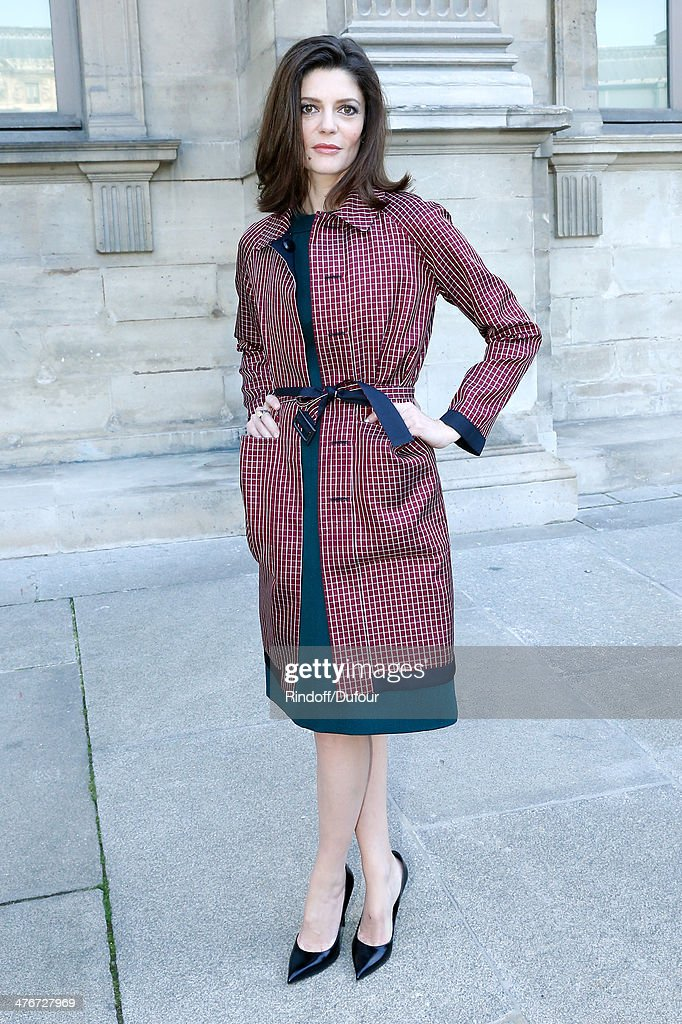 Actress Chiara Mastroianni attends the Louis Vuitton show as part of the Paris Fashion Week Womenswear Fall/Winter 2014-2015 on March 5, 2014 in Paris, France.