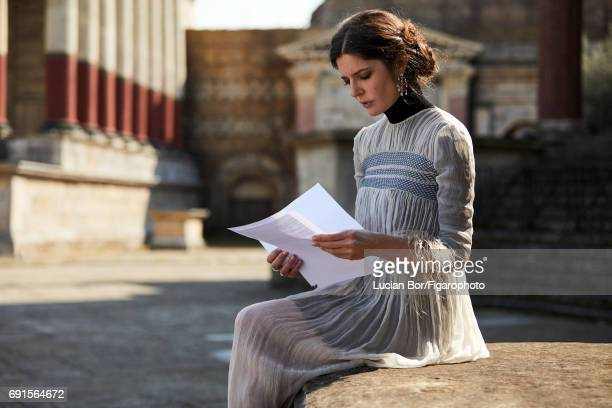 Actress Chiara Mastroianni is photographed for Madame Figaro on April 5 2017 in Rome Italy Dress and shirt earrings rings PUBLISHED IMAGE CREDIT MUST...
