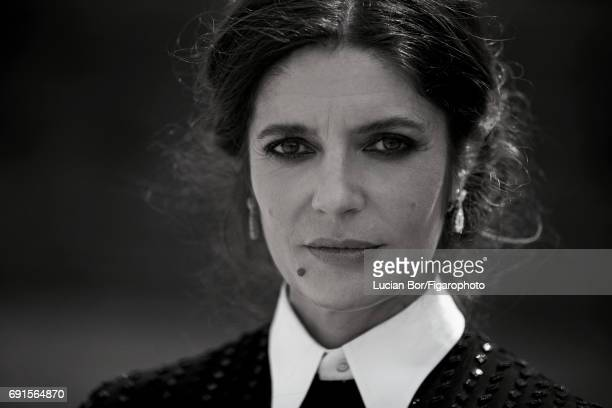 Actress Chiara Mastroianni is photographed for Madame Figaro on April 5 2017 in Rome Italy Dress earrings CREDIT MUST READ Lucian...
