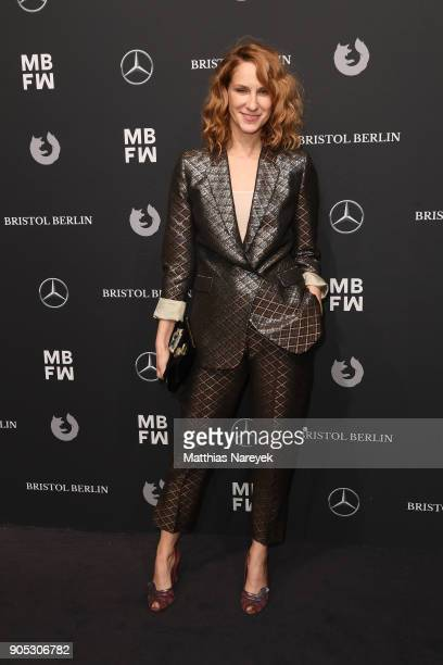 Actress Chiara Schoras attends the Dawid Tomaszewski show during the MBFW Berlin January 2018 at ewerk on January 15 2018 in Berlin Germany