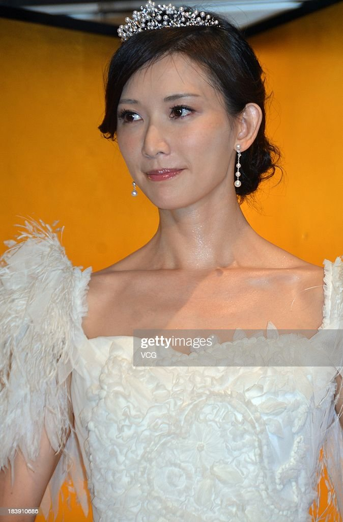 Actress Chiling Lin attends 'Say Yes' press conference at Nikko hotel on October 9, 2013 in Tokyo, Japan.