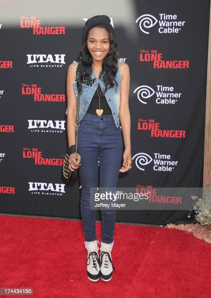 Actress China Anne McClain arrives at 'The Lone Ranger' World Premiere at Disney's California Adventure on June 22 2013 in Anaheim California