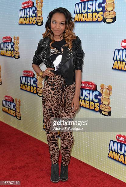 Actress China Anne McClain arrives to the 2013 Radio Disney Music Awards at Nokia Theatre LA Live on April 27 2013 in Los Angeles California