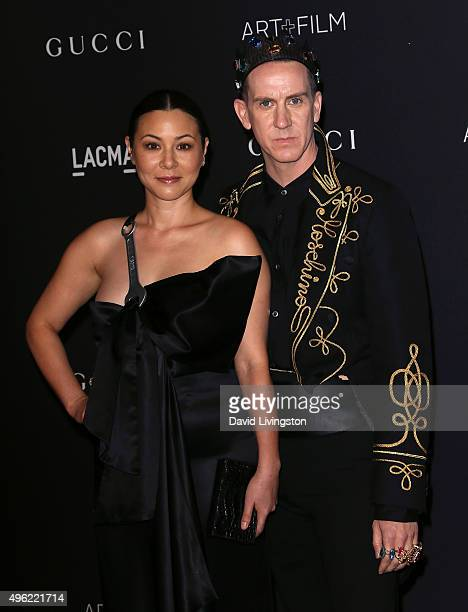 Actress China Chow and designer designer Jeremy Scott attend the LACMA Art Film Gala honoring Alejandro G Iñárritu and James Turrell and presented by...