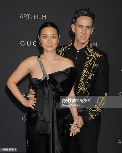 Actress China Chow and designer Jeremy Scott arrive at the LACMA 2015 ArtFilm Gala Honoring James Turrell And Alejandro G Inarritu Presented By Gucci...