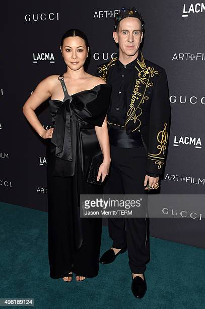 Actress China Chow and designer Jeremy Scott attend LACMA 2015 ArtFilm Gala Honoring James Turrell and Alejandro G Iñárritu Presented by Gucci at...