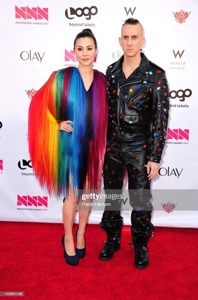 Actress China Chow and designer Jeremy Scott attend Logo's 'NewNowNext Awards' 2012 at Avalon on April 5, 2012 in Hollywood, California.