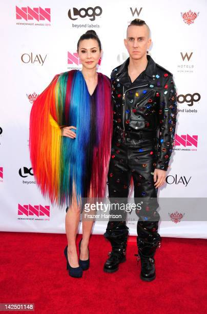 Actress China Chow and designer Jeremy Scott attend Logo's NewNowNext Awards 2012 at Avalon on April 5 2012 in Hollywood California