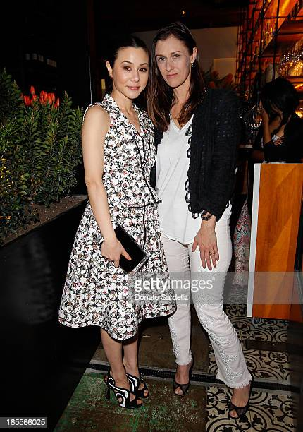 Actress China Chow and Vogue Digital Creative Director Sally Singer attend Vogue's Triple Threats dinner hosted by Sally Singer and Lisa Love at...