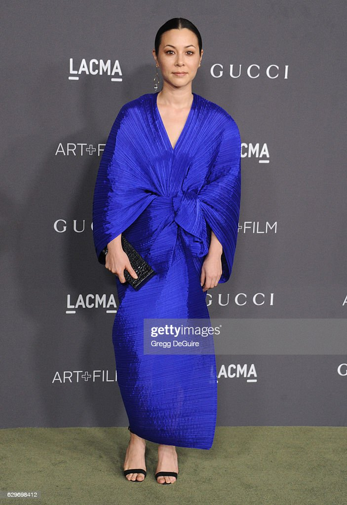 Actress China Chow arrives at the 2016 LACMA Art + Film Gala Honoring Robert Irwin And Kathryn Bigelow Presented By Gucci at LACMA on October 29, 2016 in Los Angeles, California.