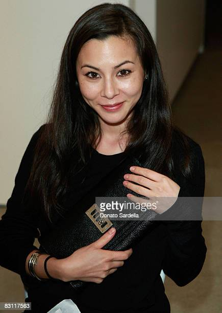 Actress China Chow attends a dinner hosted by Vogue and Mulberry celebrating the work of Alexandra Grant on display at the 'Some Paintings'...