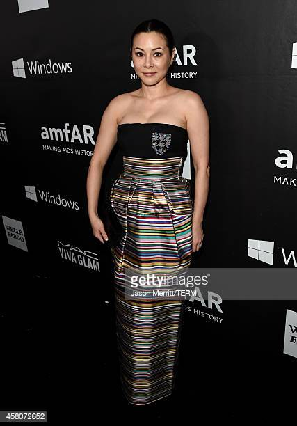 Actress China Chow attends amfAR LA Inspiration Gala honoring Tom Ford at Milk Studios on October 29 2014 in Hollywood California