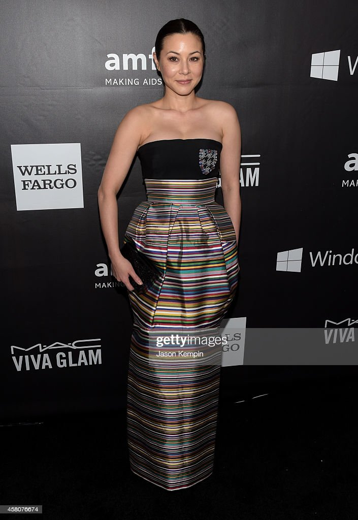 Actress China Chow attends the 2014 amfAR LA Inspiration Gala at Milk Studios on October 29, 2014 in Hollywood, California.