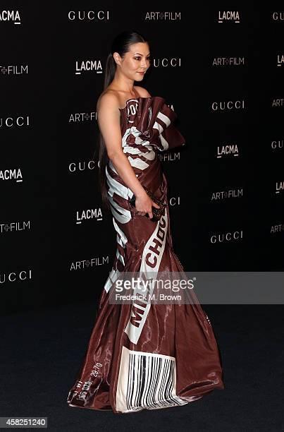 Actress China Chow attends the 2014 LACMA Art Film Gala honoring Barbara Kruger and Quentin Tarantino presented by Gucci at LACMA on November 1 2014...