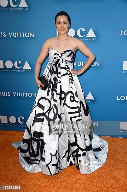 Actress China Chow attends the 2015 MOCA Gala presented by Louis Vuitton at The Geffen Contemporary at MOCA on May 30 2015 in Los Angeles California...