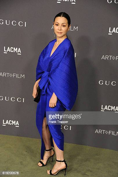 Actress China Chow attends the 2016 LACMA Art Film Gala Honoring Robert Irwin and Kathryn Bigelow at LACMA on October 29 2016 in Los Angeles...