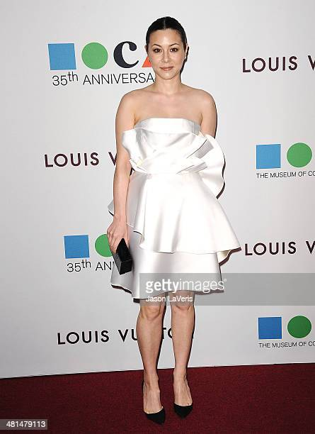 Actress China Chow attends the MOCA 35th anniversary gala celebration at The Geffen Contemporary at MOCA on March 29 2014 in Los Angeles California