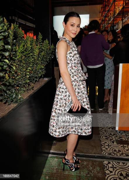 Actress China Chow attends Vogue's Triple Threats dinner hosted by Sally Singer and Lisa Love at Goldie's on April 3 2013 in Los Angeles California
