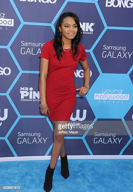 Actress China McClain arrives at the 16th Annual Young Hollywood Awards at The Wiltern on July 27, 2014 in Los Angeles, California.