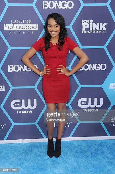 Actress China McClain arrives at the 16th Annual Young Hollywood Awards at The Wiltern on July 27 2014 in Los Angeles California
