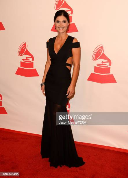 Actress Chiquinquirá Delgado arrives at the 2013 Latin Recording Academy Person Of The Year honoring Miguel Bose at the Mandalay Bay Convention...