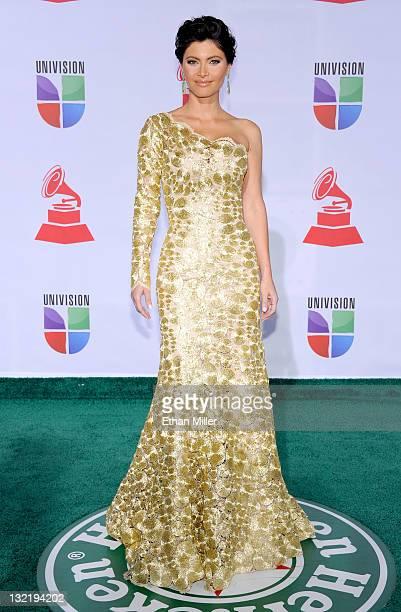 Actress Chiquinquira Delgado arrives at the 12th annual Latin GRAMMY Awards at the Mandalay Bay Resort Casino on November 10 2011 in Las Vegas Nevada
