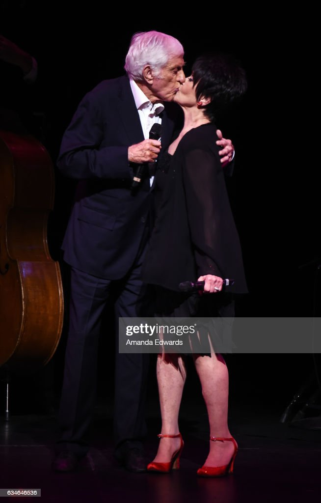 Actress Chita Rivera (R) and actor Dick Van Dyke perform onstage together at The Eli And Edythe Broad Stage presentation of 'Chita: A Legendary Celebration' at The Broad Stage on February 10, 2017 in Santa Monica, California.