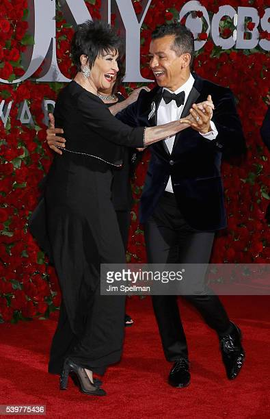 Actress Chita Rivera and choreographer Sergio Trujillo attend the 70th Annual Tony Awards at Beacon Theatre on June 12 2016 in New York City