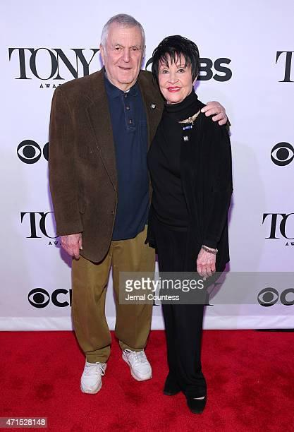 Actress Chita Rivera and composer John Kander attend the 2015 Tony Awards Meet The Nominees Press Reception at the Paramount Hotel on April 29 2015...