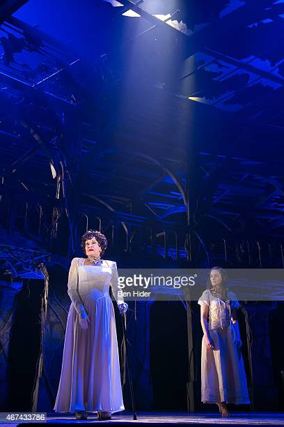 Actress Chita Rivera and Michelle Veintimilla performs in The Visit at The Lyceum Theater on March 24 2015 in New York City