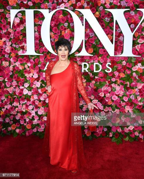 US actress Chita Rivera attends the 2018 Tony Awards Red Carpet at Radio City Music Hall in New York City on June 10 2018