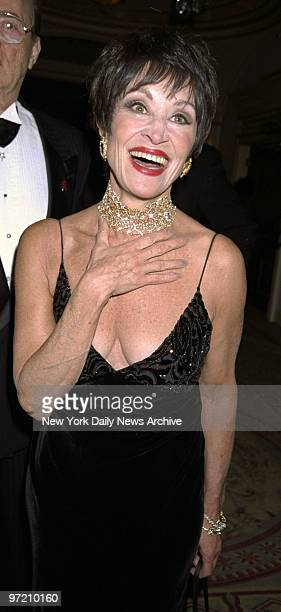 Actress Chita Rivera attends the Drama League's benefit honoring Liza Minnelli, at the Pierre Hotel.