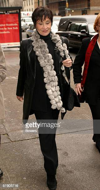 Actress Chita Rivera attends the funeral for Jerry Orbach at Riverside Chapel December 31 2004 in New York City