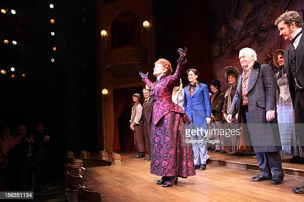 Actress Chita Rivera comes takes a curtain call during the 'The Mystery Of Edwin Drood' Broadway Opening Night at the Roundabout Theatre Company's...