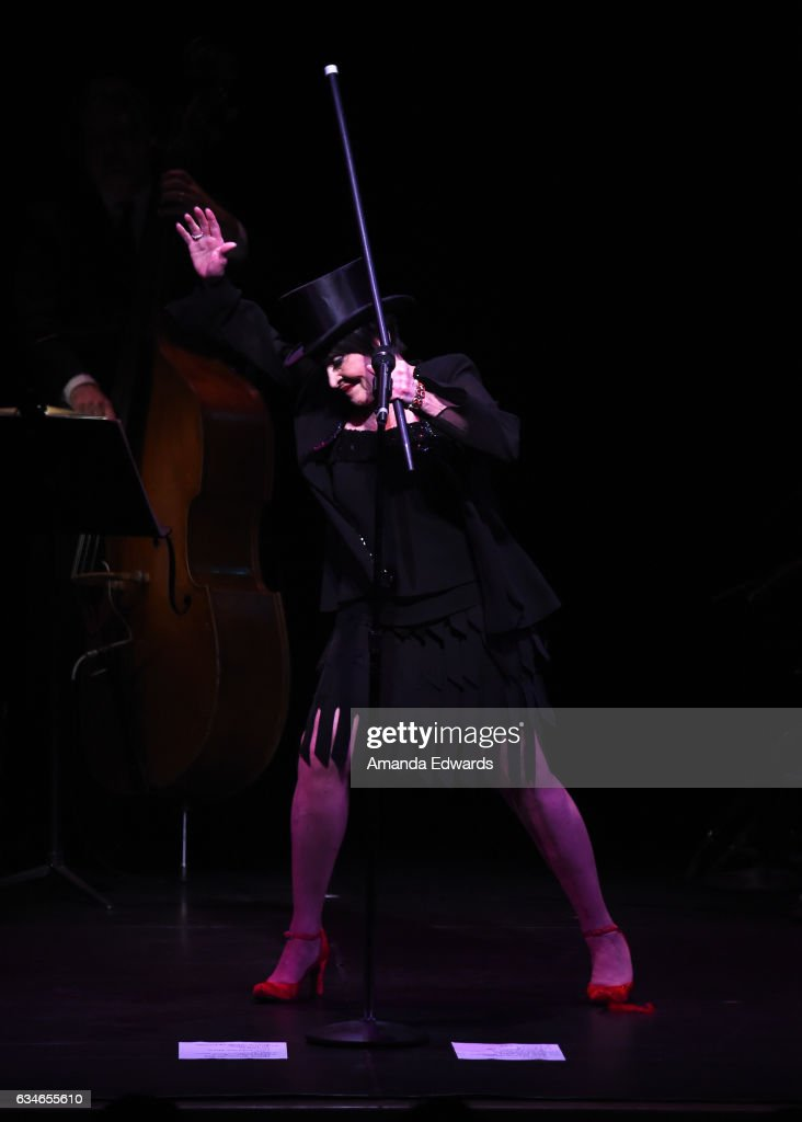 Actress Chita Rivera performs onstage at The Eli And Edythe Broad Stage presentation of 'Chita: A Legendary Celebration' at The Broad Stage on February 10, 2017 in Santa Monica, California.
