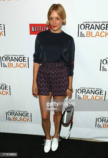 Actress Chloë Sevigny attends 'Orange Is The New Black' New York Premiere at The New York Botanical Garden on June 25 2013 in New York City