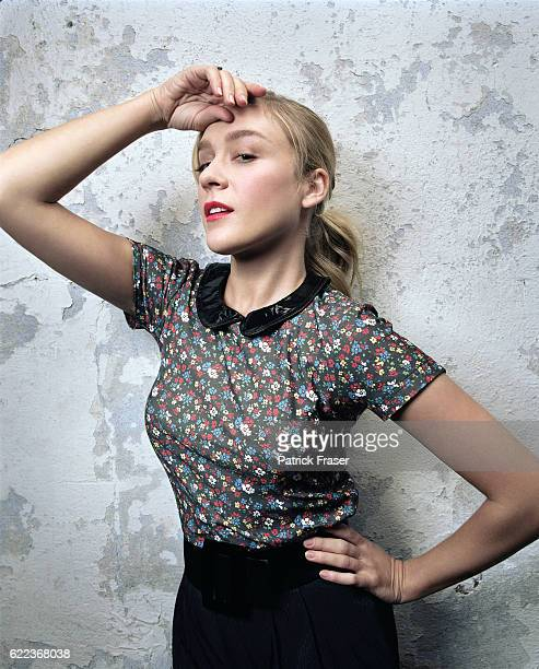 Actress Chloë Sevigny wearing clothes of her own design.