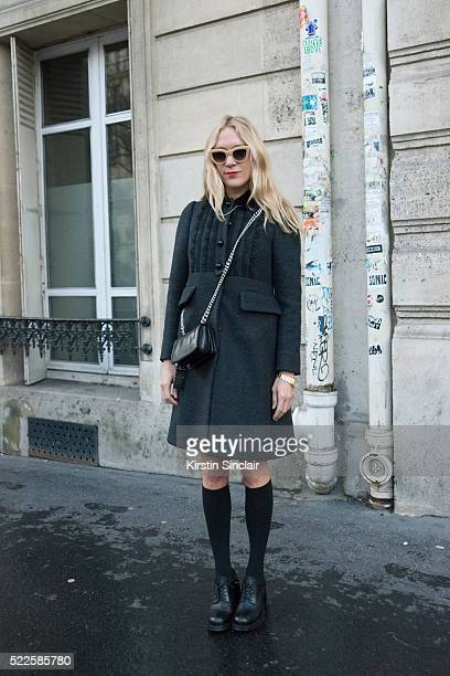 Actress Chloë Sevigny wears all Miu Miu on day 9 during Paris Fashion Week Autumn/Winter 2016/17 on March 9 2016 in Paris France Chloë Sevigny