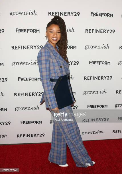 Actress Chloe Bailey attends the premiere of ABC's 'Grownish' on December 13 2017 in Hollywood California