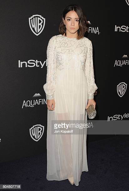Actress Chloe Bennet arrives at the 2016 InStyle And Warner Bros 73rd Annual Golden Globe Awards PostParty at The Beverly Hilton Hotel on January 10...