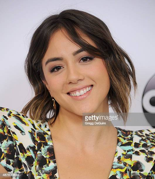 Actress Chloe Bennet arrives at the Disney ABC Television Group's 2015 TCA Summer Press Tour on August 4 2015 in Beverly Hills California
