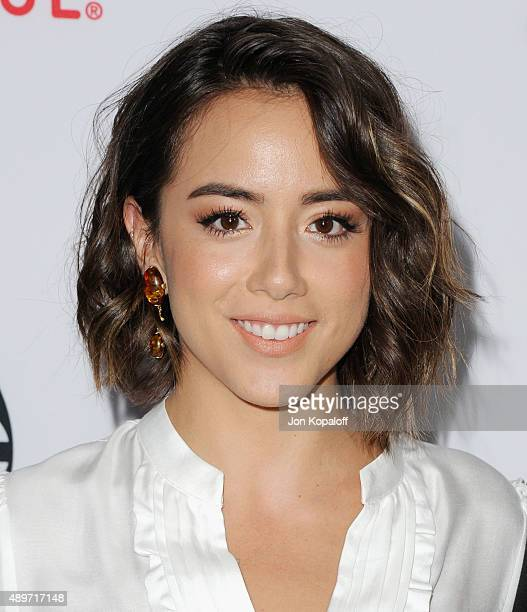 """Actress Chloe Bennet arrives at the Premiere Of Marvel's """"Agents Of S.H.I.E.L.D."""" at Pacific Theatre at The Grove on September 23, 2015 in Los..."""