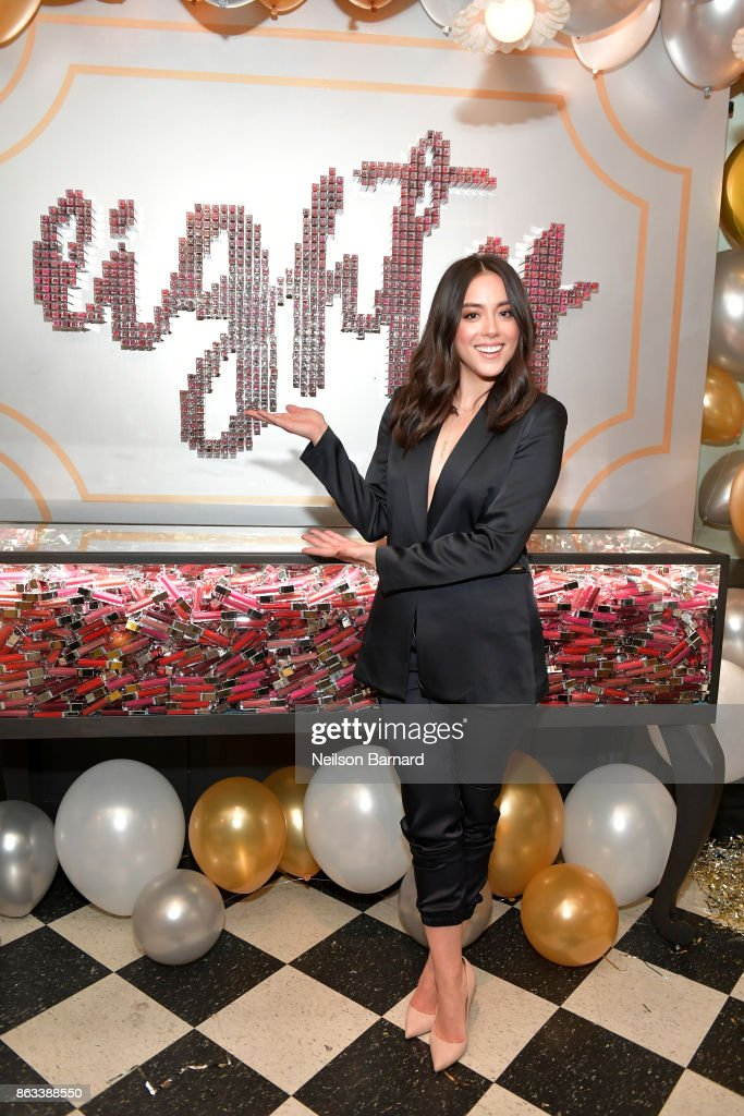 Actress Chloe Bennet at Physicians Formula's 80th Anniversary at Beauty & Essex on October 19, 2017 in Los Angeles, California.