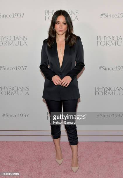 Actress Chloe Bennet at Physicians Formula's 80th Anniversary at Beauty Essex on October 19 2017 in Los Angeles California