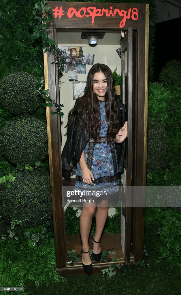 Actress Chloe Bennet attends Alice + Olivia By Stacey Bendet fashion show, New York Fashion Week: The Shows at Gallery 2, Skylight Clarkson Sq on September 12, 2017 in New York City.