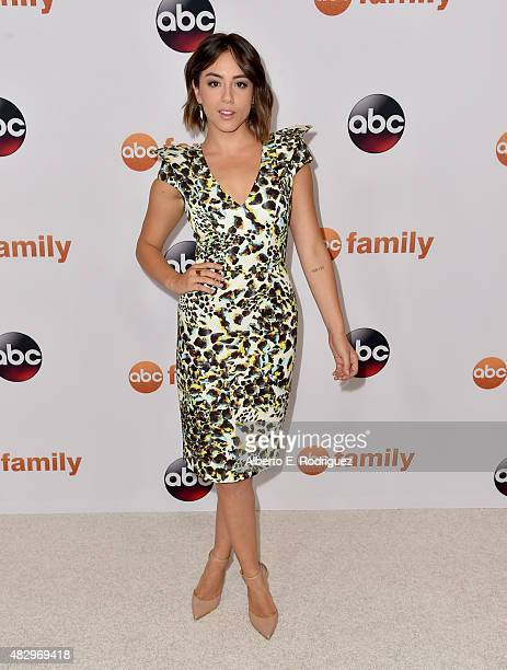 Actress Chloe Bennet attends Disney ABC Television Group's 2015 TCA Summer Press Tour at the Beverly Hilton Hotel on August 4 2015 in Beverly Hills...
